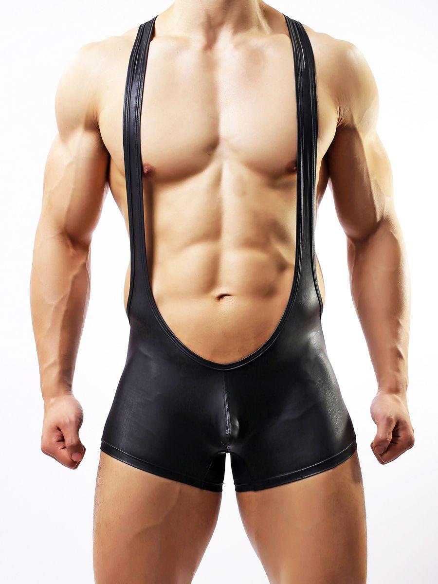 Мужчины сексуальное нижнее белье Кожа Sexy Трусы Веревка белья Мужская одеж